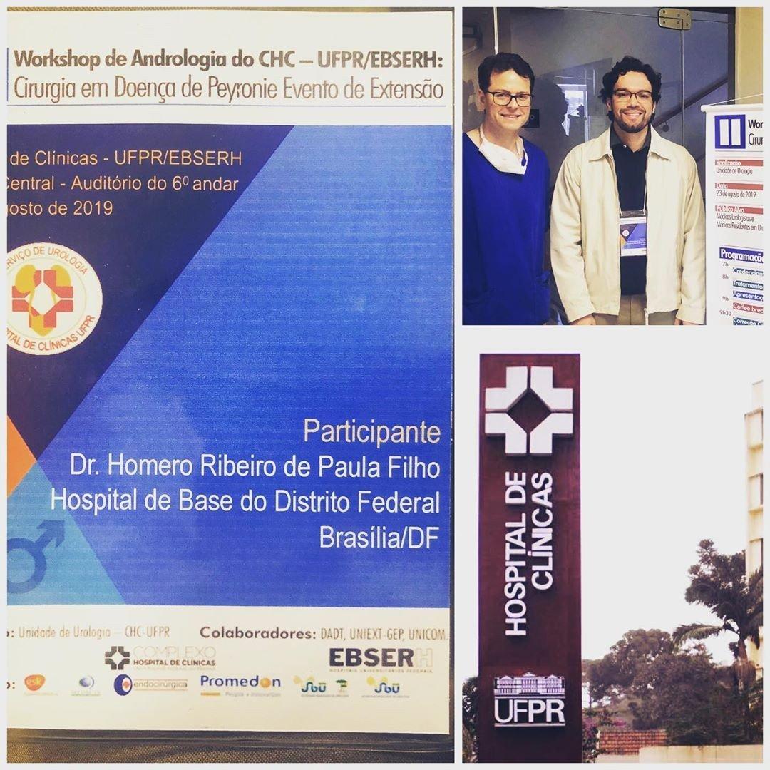 Iniciando o XXXVII Congresso Brasileiro de Urologia em Curitiba com Workshop em cirurgia de Peyronie…