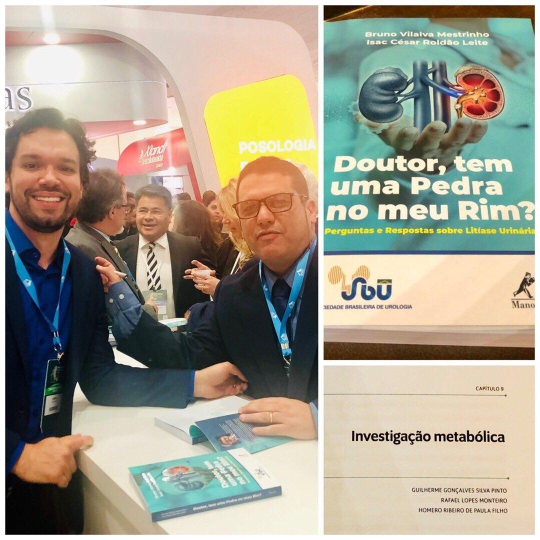 """Lançamento no XXXVII Congresso Brasileiro de Urologia 2019 do  livro: """" Doutor, tem uma Pedra no m…"""